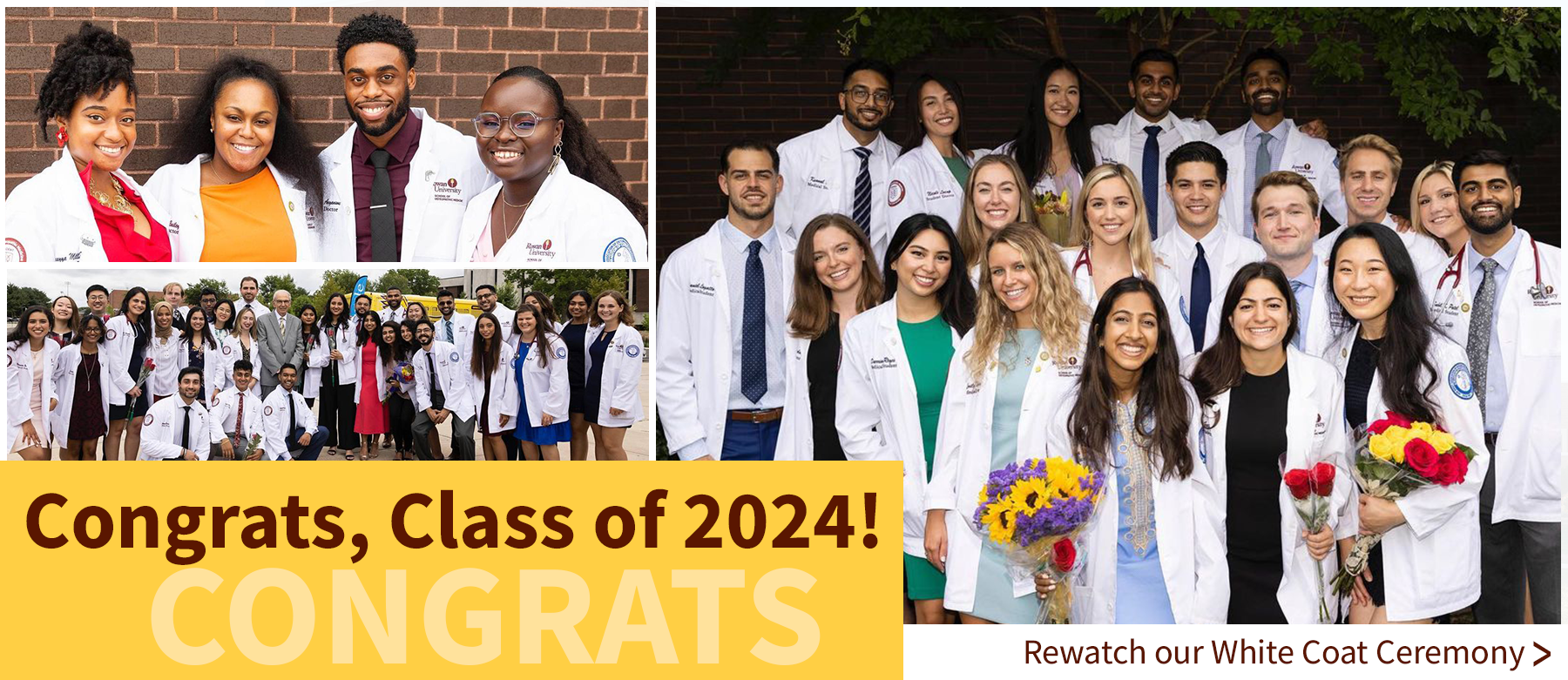 Welcome to the Class of 2024 - Click to watch the White Coat Ceremony